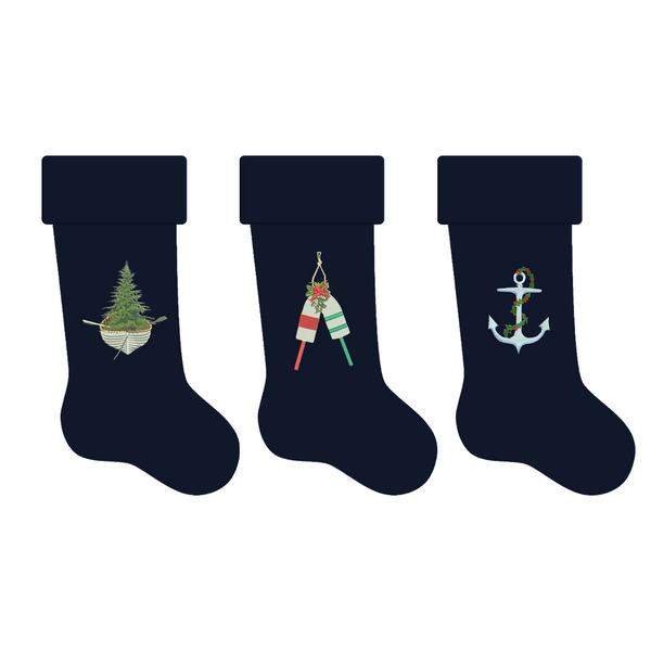 Holiday Stockings Embroidered
