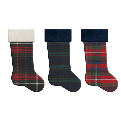 Holiday Stockings Plaid