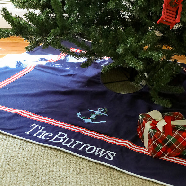 Tree Skirt in Navy