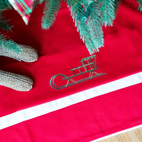 Tree Skirt in Red