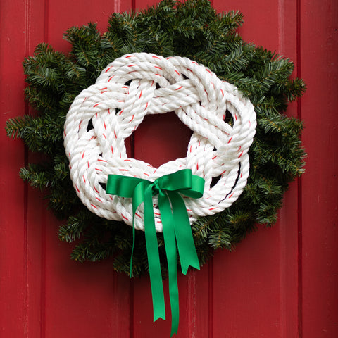 White Rope Green Grosgrain