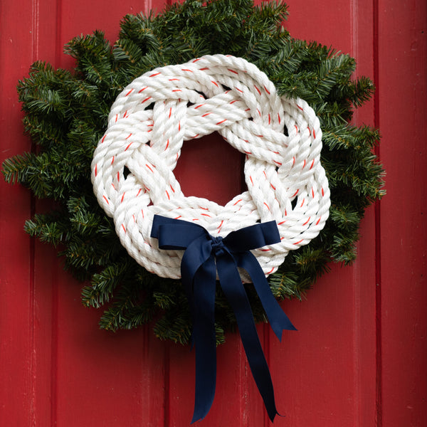 White Rope Navy Grosgrain