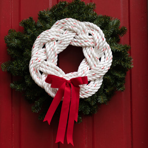 White Rope Red Grosgrain