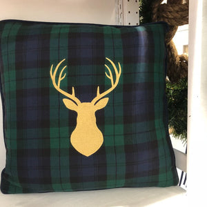 Buck Head on Blackwatch Plaid 18""