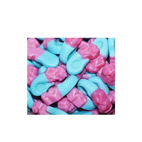 Vegan pink and blue mermaid sweets