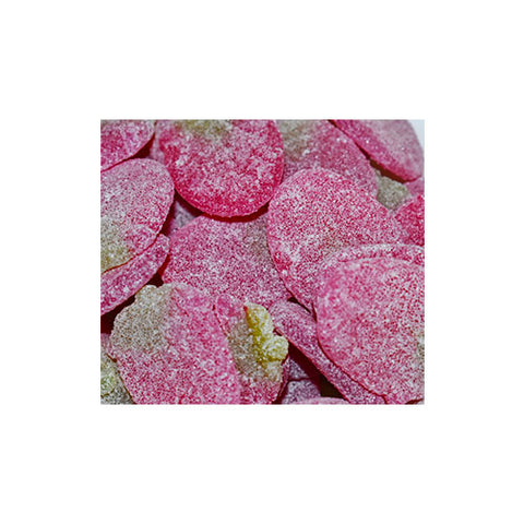 Vegan strawberry fizzy sweets