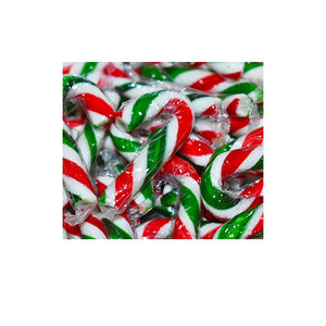 Vegan peppermint candy canes
