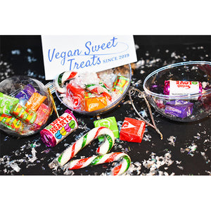 Vegan Candy filled christmas baubles