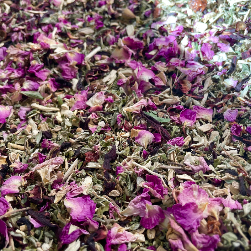 Hibiscus & Rose Heart Support and Adaptogenic Tea