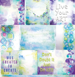 "Courage - 12""x12"" Scrapbooking Paper"