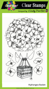Hydrangea Basket - Clear Stamp Set