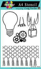 Load image into Gallery viewer, Up Up and Away - Stamp/Stencil Bundle