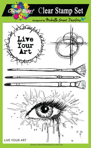 Live Your Art - Clear Stamp Set