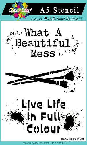 Beautiful Mess - A5 Stencil