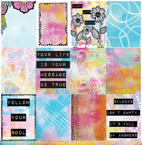 "Silence - 12""x12"" Scrapbooking Paper"