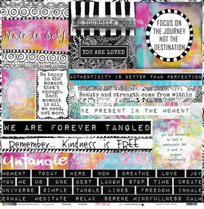 "Mantras - 12""x12"" Scrapbooking Paper - Word Sheet"