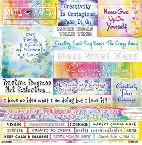 "Creativity - 12""x12"" Scrapbooking Paper - Word Sheet"