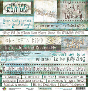"Exception - 12""x12"" Scrapbooking Paper - Word Sheet"