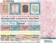 "Load image into Gallery viewer, Sweet Talker - 12""x12"" Scrapbooking Paper - Word Sheet"