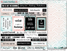 "Load image into Gallery viewer, Relax - 12""x12"" Scrapbooking Paper - Word Sheet"
