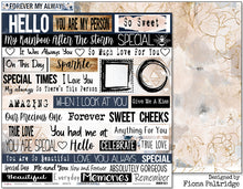 "Load image into Gallery viewer, Love Is Golden - 12""x12"" Scrapbooking Paper - Word Sheet"