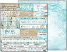 "Load image into Gallery viewer, Unwind - 12""x12"" Scrapbooking Paper - Word Sheet"