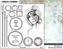 "Load image into Gallery viewer, Time - 12""x12"" Scrapbooking Paper Cut & Colour"