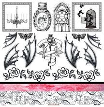 "Load image into Gallery viewer, Gargoyle - 12""x12"" Scrapbooking Paper - Cut & Colour"