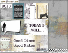 "Load image into Gallery viewer, Play Hard - 12""x12"" Scrapbooking Paper"