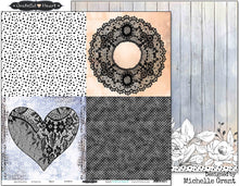 "Load image into Gallery viewer, Heart - 12""x12"" Scrapbooking Paper"