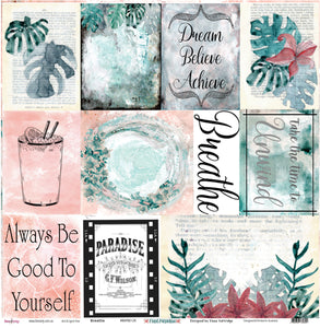 "Breathe - 12""x12"" Scrapbooking Paper"