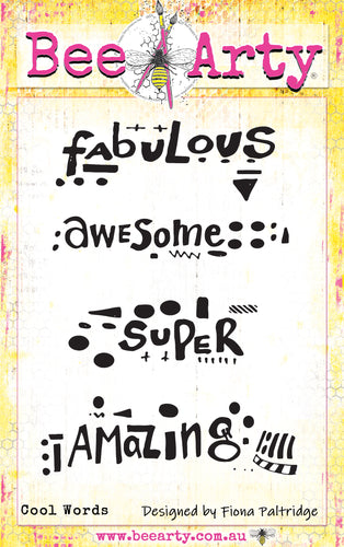 Cool Words - Clear Stamp Set