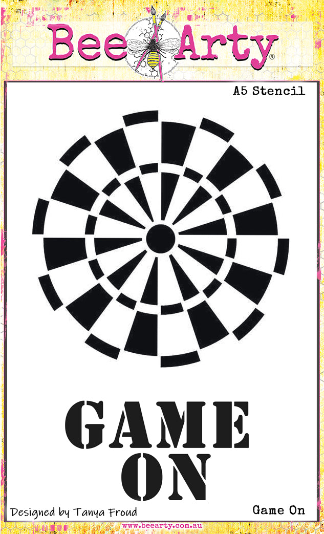 Game On - A5 Stencil