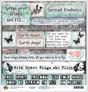 "Word Play - 12""x12"" Scrapbooking Paper - Word Sheet"