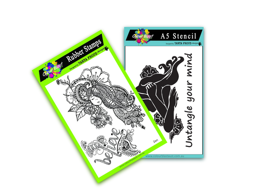 Zen Girl - Stamp/Stencil Bundle