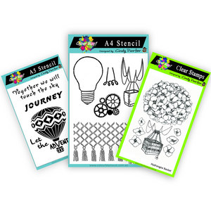 Up Up and Away - Stamp/Stencil Bundle