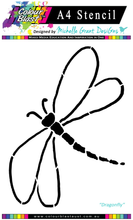 Load image into Gallery viewer, Dragonfly - A4 Stencil