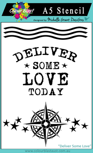 Deliver Some Love - A5 Stencil