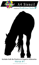 Load image into Gallery viewer, Horse 1 - A4 Stencil