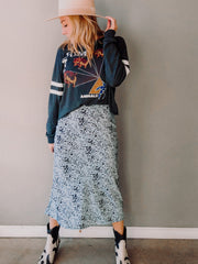 Can't Take The Moonlight Midi Skirt