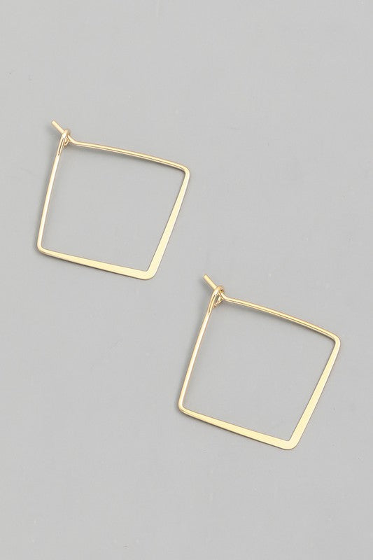 Thin Square Hoop