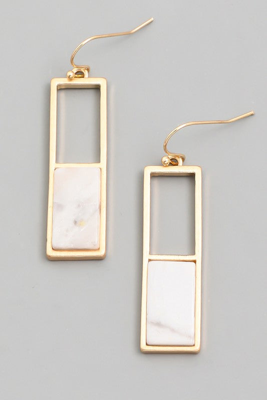 Rectangular Stone Hoop