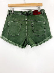 One Teaspoon Le Wolves Mid Length Shorts