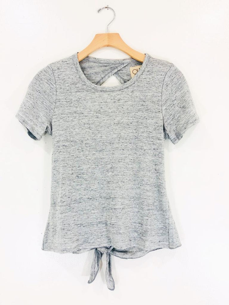 Chaser Cropped Open Back Tee