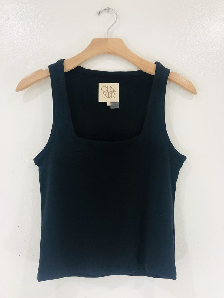 Chaser Square  Neck Cropped Tank