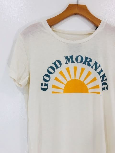 Chaser Good Morning Crew Neck Tee