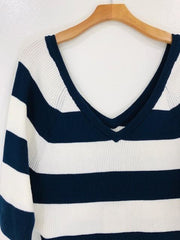 Chaser Ribbed Double V Raglan Pullover