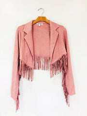 Wild Honey Fringe Moto Jacket