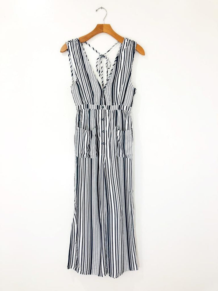 Saltwater Luxe Fall Stripe Jumpsuit