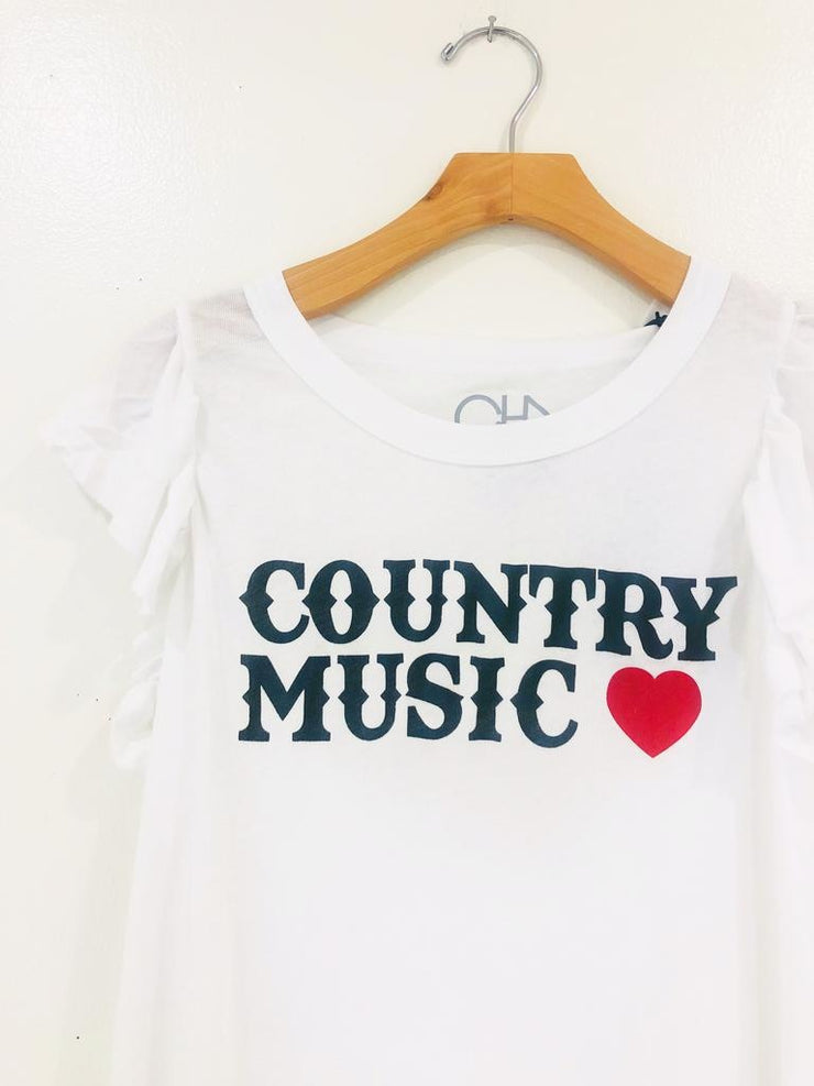 Chaser Flutter Sleeve Country Music Tee